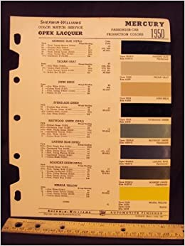 1950 mercury paint colors chip page ford motor company. Black Bedroom Furniture Sets. Home Design Ideas