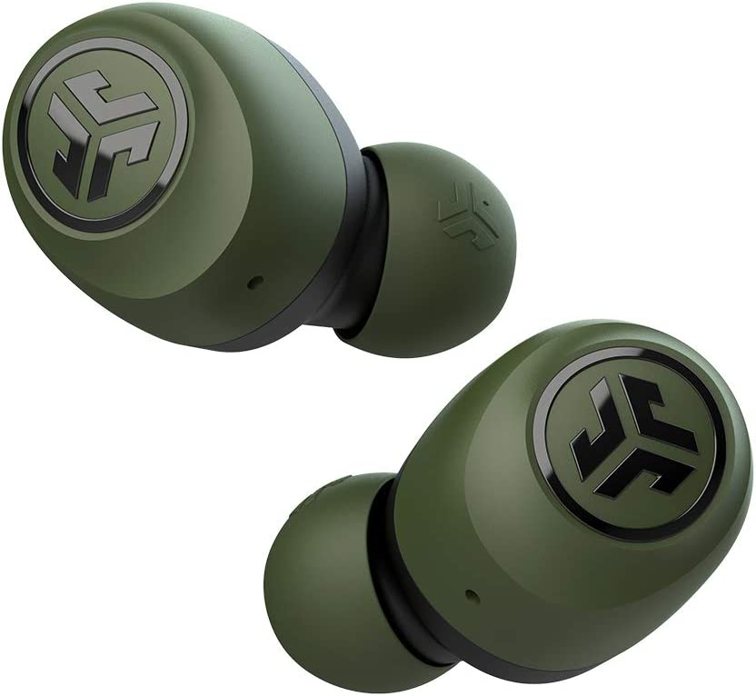 JLab Go Air True Wireless Bluetooth Earbuds + Charging Case | Green | Dual Connect | IP44 Sweat Resistance | Bluetooth 5.0 Connection | 3 EQ Sound Settings: JLab Signature, Balanced, Bass Boost