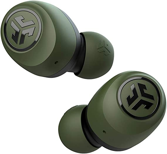 JLab Audio Go Air True Wireless Bluetooth Earbuds + Charging Case | Green | Dual Connect | IP44 Sweat Resistance | Bluetooth 5.0 Connection | 3 EQ Sound Settings: JLab Signature