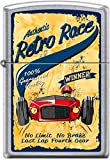 Zippo Authentic Retro Race No Limit No Brake Last Lap Fourth Gear Poster Lighter