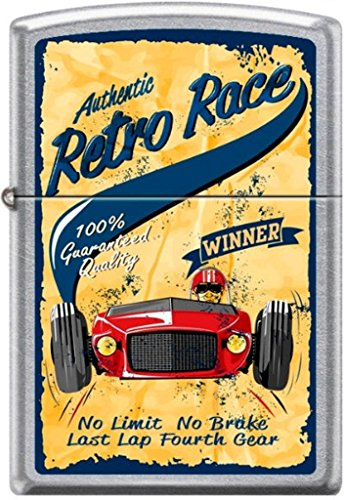 Zippo Authentic Retro Race No Limit No Brake Last Lap Fourth Gear Poster Lighter by Zippo