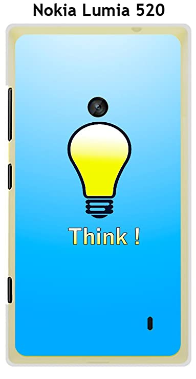 Sfondi Natalizi Nokia Lumia 520.Onozo Cover Nokia Lumia 520 Design Think Sfondo Blu Amazon