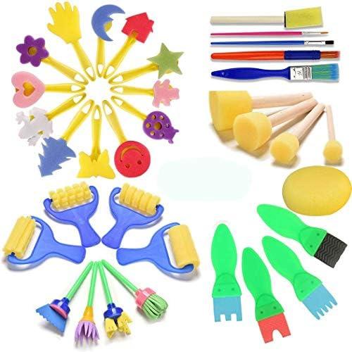 25x Kinder Pinsel Schwamm Malerei Pinsel Werkzeug Set Kleinkind Spielzeug Gift