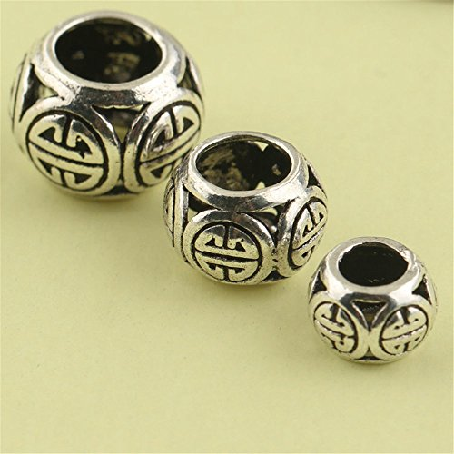 - MFMei Thai Sterling Silver Rondelle Spacer Beads, 8-12mm (CY180) (10mm)