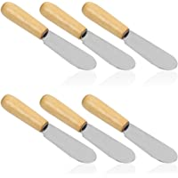 Esparcidor de mantequilla con mango de madera, 4