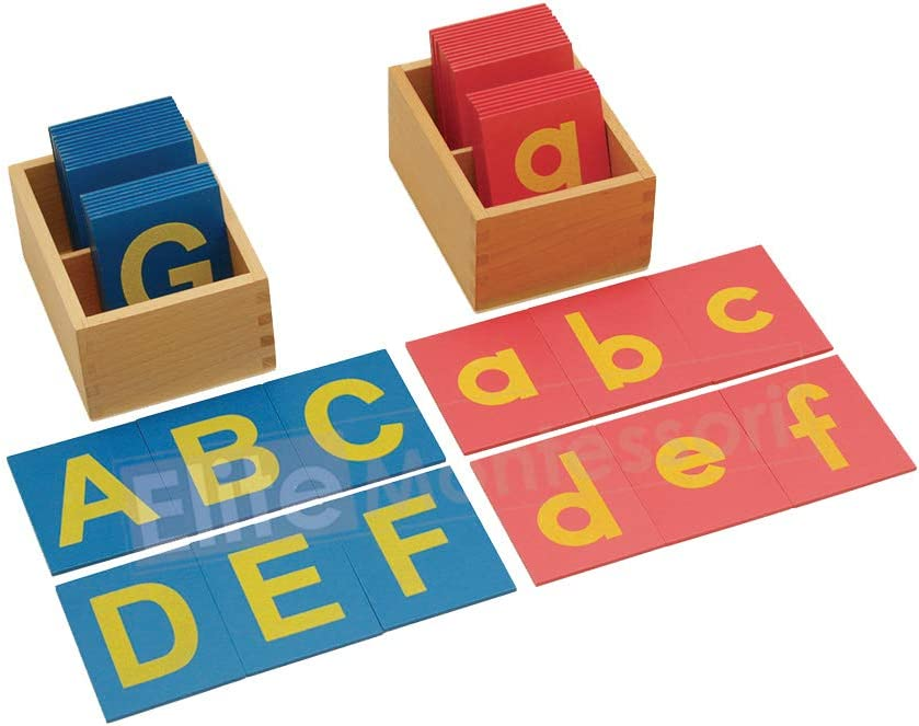 Lower and Capital Case Sandpaper Letters