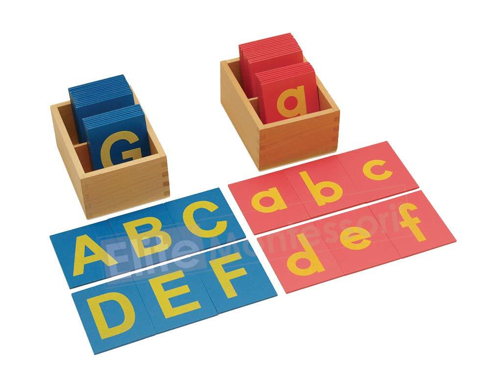 Montessori Lower and Capital Case Sandpaper Letters w/ Boxes
