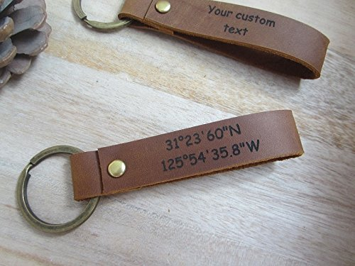 a88dfeee0 Engraved Leather Keychain