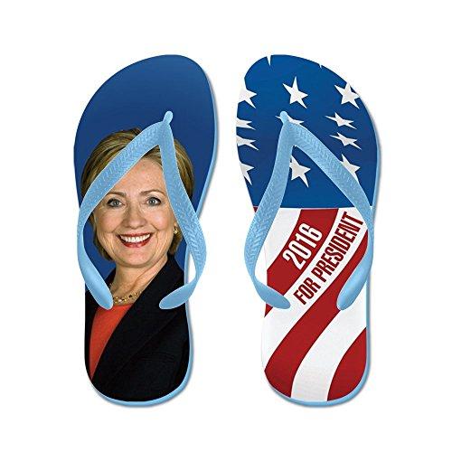 Cafepress Hillary För President 2016 - Flip Flops, Roliga Rem Sandaler, Strand Sandaler Caribbean Blue