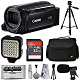 Canon VIXIA HF R700 Full HD Camcorder Video Camera (Black) + Essential Accessories Bundle Kit