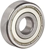 Dynaroll 6200 Series Ball Bearing, Double Shielded, 52100 Chrome Steel, Metric