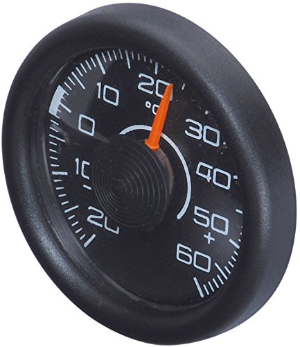 Richter 3515 Universal Car Dash Round Classic Analogue Thermometer Compact Slim Weather Gauge Truck Jeep SUV Wagon RV Sedan