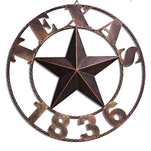Texas Metal Barn Star Western Home Decor Vintage Home Decoration Large ()