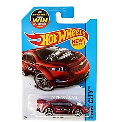 Hot Wheels, 2015 HW City, Super Volt [Maroon] Die-Cast Vehicle #22/250: Toys & Games