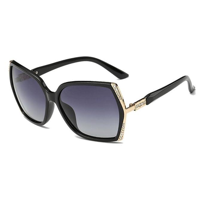 31a2ded080 Gafas de sol de gran tamaño con diamantes de imitación para mujer Elegante  marco grande marca