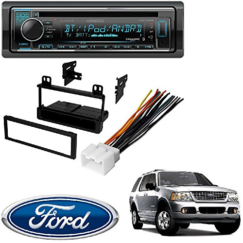 Kenwood eXcelon CD Receiver w/Bluetooth Front USB SiriusXM Ready Spotify, Pandora for iPhone or Android phones FORD 1995 – 2005 EXPLORER (ALL MODELS) CAR STEREO DASH INSTALL MOUNTING KIT WIRE HARNESS