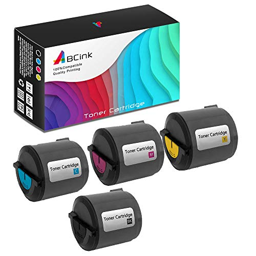 (ABCink Compatible Toner Cartridge Replacements for Xerox 106R01274 106R01271 106R01272 106R01273,for use in Xerox Phaser 6110 6110MFP,4 Pack(Black,Cyan,Yellow,Magenta))