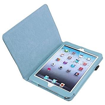 R SODIAL Azul Caja de cuero con soporte para Apple iPad mini