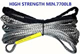A-FUN 1/4'' Customized Length Synthetic winch Rope for winch 4500lb 4000 3500