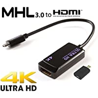 Samsung Galaxy Tab 4 8.0 AT&T MHL 3.0 HDTV Adapter! Easily Connects to your HDTV up to 4K using the official adapter! [RETAIL PACKAGING]