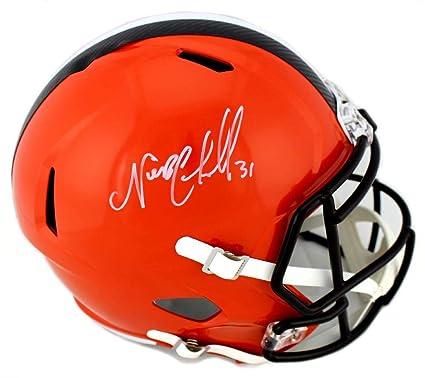 the latest 8f5ab 07b92 Amazon.com: Nick Chubb Autographed Helmet - Full Size Speed ...