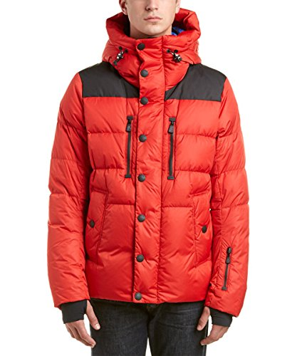 Hypoallergenic Luxury 100% Royal Super Baby Alpaca Ski Jacket Outdoorwear Windproof Ski Jacket with Hood, Red, Thermo, Silky, Organic