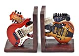 Decorative Bookends Vintage Guitar Double Music for Books !!