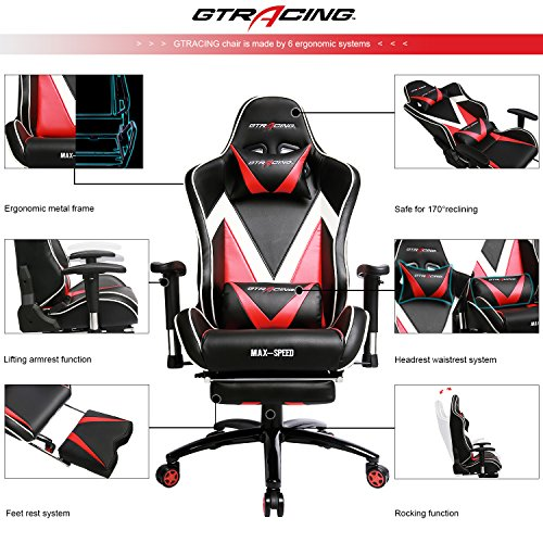 Gtracing Ergonomic Gaming Chair High Back Swivel Computer