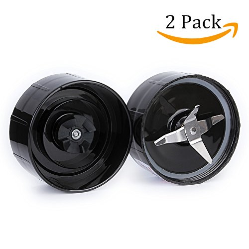 2 Magic Bullet Replacement Cross Blades with Gaskets for Magic Bullet Blender Juicer Mixer