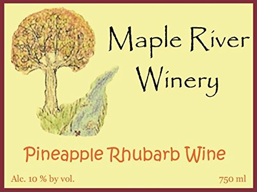 Pineapple Rhubarb Wine by Maple River Winery