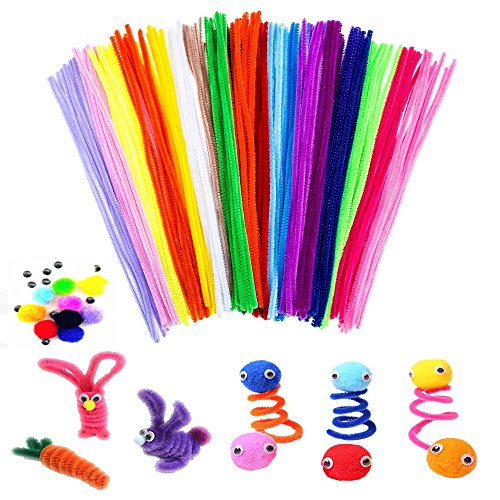 Pipe Cleaners Craft Set,200 Pieces Pipe Cleaners Chenille