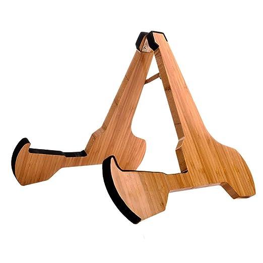 Soporte de Guitarra Universal Guitarra soporte real de madera duro ...