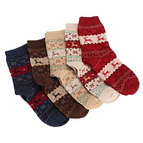 Women-Crew-Socks-Vintage-Winter-Warm-Casual-Knit-Sock-Christmas-Gift-5-Pairs-LATHPIN