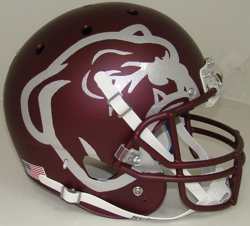 NCAA Mississippi State Bulldogs Maroon Replica Helmet, One Size, White (State Helmet Mississippi)