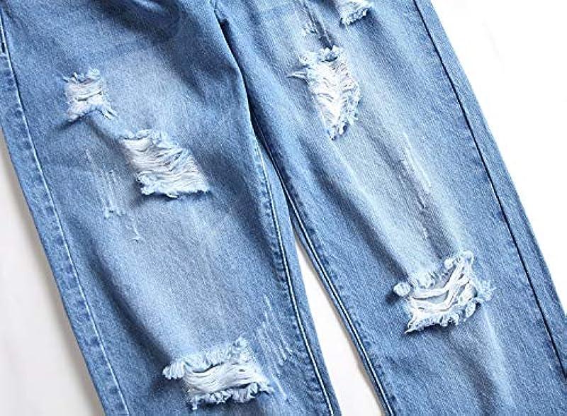 Mikely store Męskie-Jeans, schmale Passform, elastisch, gestreift, modisch Gr. 44, F-blau: Odzież