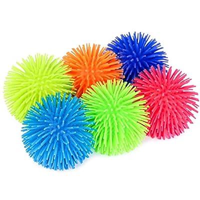 KELZ KIDZ Premium Quality Large & Thick Puffer Balls for Fun Kids Party (Set of 12): Toys & Games
