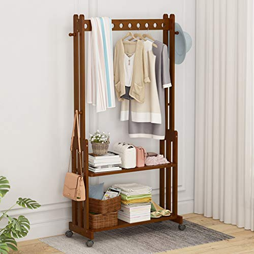 Amazon.com: ZHEN GUO Bamboo Garment Rack Coat Tree Free ...