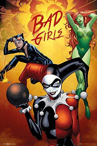 "Batman - DC Comcis Poster / Print (Bad Girls - Harley Quinn, Poison Ivy & Catwoman) (Size: 24"" x 36"")"