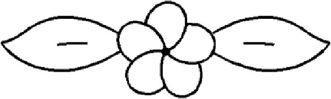 4x 1 Small Flower Quilting Stencil by QCI 179