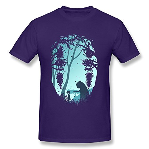 WSB Men's Tshirts Fashion Anime Spirited Away Customlized Tees Purple Size XXL]()