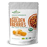 Golden Berries - All Natural Fresh Incan, Gooseberries Raw, Vegan, Gluten Free, Paleo Dried Super Fruit, Smart Protein Fiber Organic 8oz by Alovitox