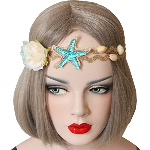 LuckyZ Handmake Wedding Bridal Beautiful Beach Shell Forehead Headband Hair Band, Bridal (Shell Head)