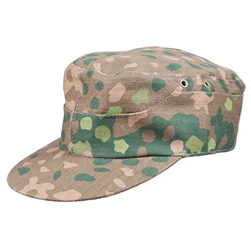 Heerpoint Reproduction Wwii Ww2 German Elite Dot 44 Camo Field Cap Hat Baseball Caps (L)