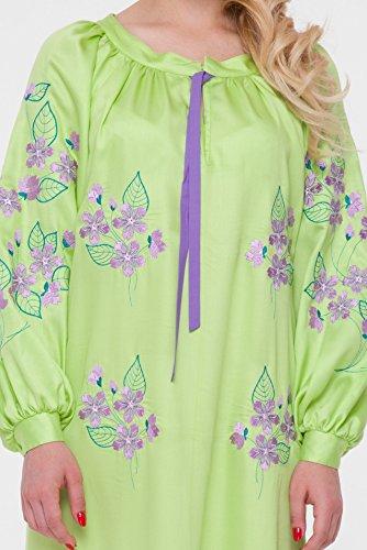 Per 2kolyory Ucraino Ricamato For 2kolyory Verde Dress Embroidered Abito Embroidered Dress Ricamato Staple Donne Fiocco L'abito Le Green Women Vyshyvanka Vyshyvanka Ukrainian Light wAxw7rB8q