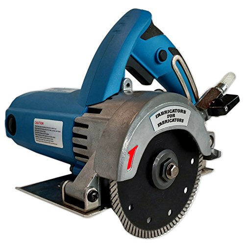 FAB-125 A. Heavy-Duty 2.2HP Stone Cutter 5-inch Contour or Flat Blade Wet/Dry for stone, tile and (Heavy Duty Wet Saw)