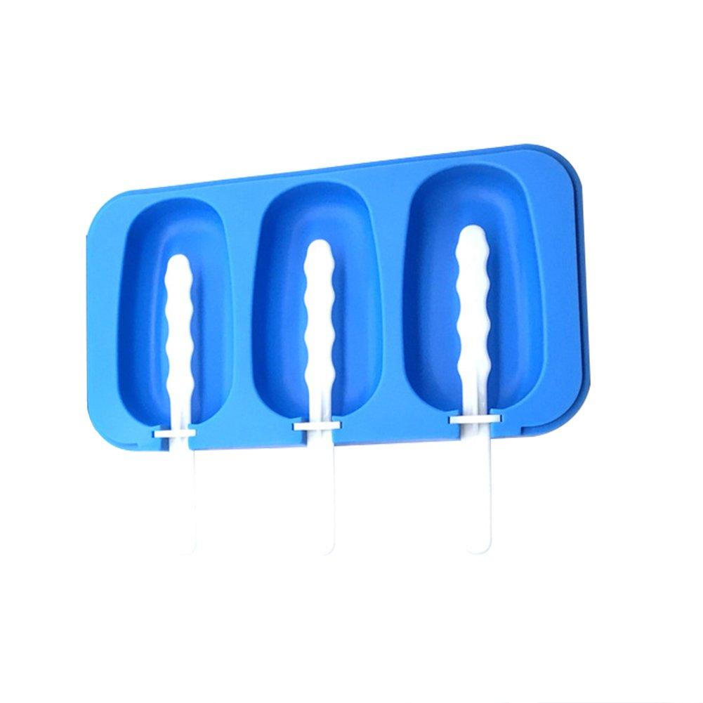 Somedays Molde de Silicona con 3 Rejillas para Polos de Hielo con Tapa Moldes de Helado para Ni/ños