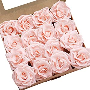 Ling's moment Artificial Flowers 16pcs Sweet Avalanche Roses for DIY Wedding Bouquets Centerpieces Arrangements Party Baby Shower Home Decorations 12