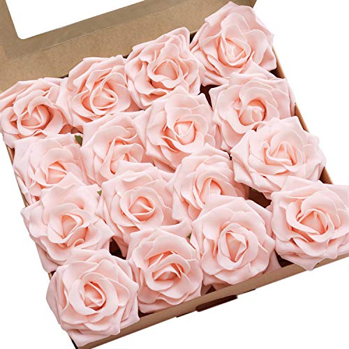 - Ling's moment Artificial Flowers 16pcs Blush Sweet Avalanche Roses for DIY Wedding Bouquets Centerpieces Arrangements Party Baby Shower Home Decorations