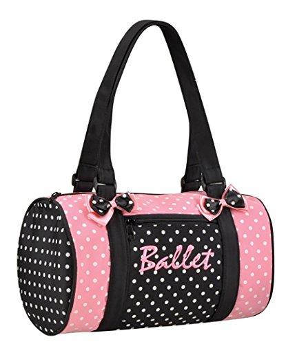 DansBagz by Danshuz Women's Dancin' Dots Ballet Bag, Pink, Black, OS For Sale