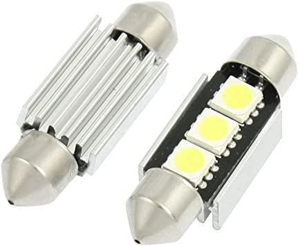 2x White 5-SMD LED No Error Free Canbus Number Licence Plate Light Bulbs Lamps